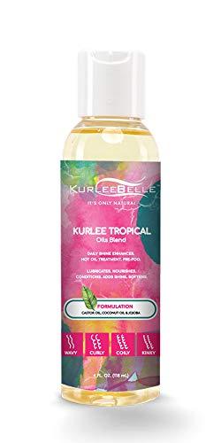 Kurlee Belle Kurlee Tropical Oils Blend 4oz (Best Oils For Sealing Hair)