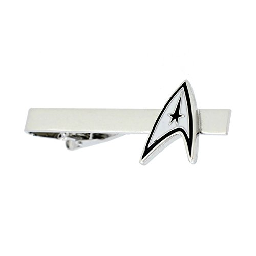 Star Trek Command Logo Silvertone Metal TIE