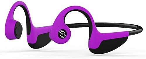 RENKUNDE 骨伝導ヘッドフォンBluetoothミュージックコールスポーツヘッドフォン骨伝導リアマウントスポーツヘッドフォン ゲーミングヘッドセット (Color : Purple)