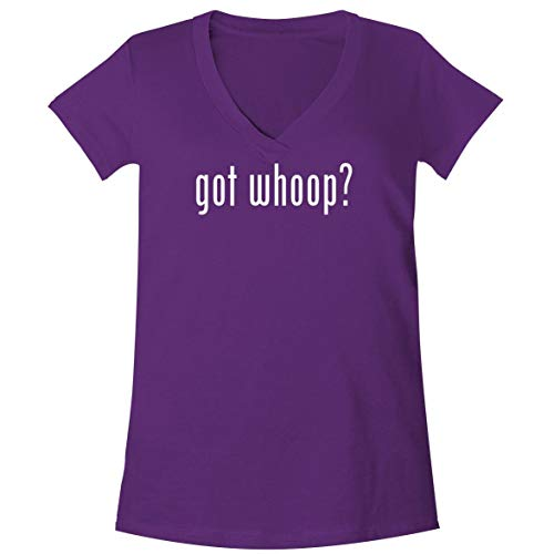 got Whoop? - A Soft & Comfortable Women's V-Neck T-Shirt, Purple, X-Large