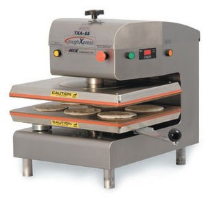 DoughXpress TXA-SS Stainless Steel Air Automatic Dual-Heated Press, 220V, 18-3/16'' Width x 25-1/8'' Height x 24-11/16'' Depth