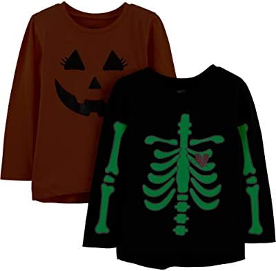 Simple Joys by Carters 2-Pack Halloween Long-Sleeve Tees B/éb/é gar/çon Lot de 2