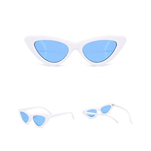 TOOPOOT 2018 Female Fashion Cat Eye Shades Sunglasses Polarized Integrated UV Candy Colored Glasses - Cat Eye Thin