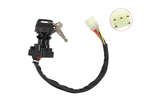Ignition Switch w/Keys for Suzuki King Quad 400 450 500 750 LTA400F LTF400F LTA450X LTA500 LTA750 Eiger 400 LTF400 LTF400F ATV