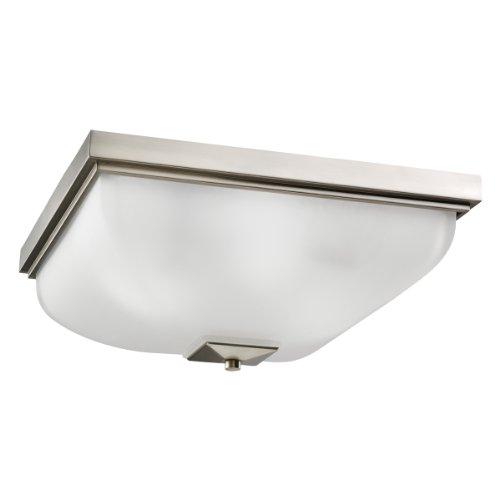 Kichler Lighting 7011NI 4-Light Incandescent Ceiling Flush Mount, Brushed Nickel with Satin-Etched Glass