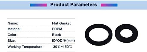1pc DN200//250//300//350//400//800 Flat Ring Gasket Black EDPM Material Flat Gasket Ring Washer Cushion Plain Sealing Rubber Ring Gasket Size : DN400 426x488x3mm