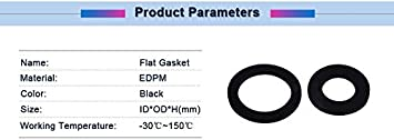Size : DN800 820x917x3mm 1pc DN200//250//300//350//400//800 Flat Ring Gasket Black EDPM Material Flat Gasket Ring Washer Cushion Plain Sealing Rubber Ring Gasket