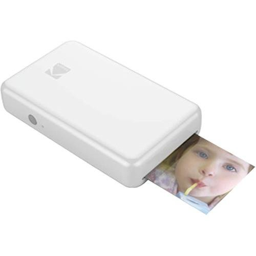 Kodak Mini 2 HD Wireless Mobile Instant Photo Printer w/4PASS Patented Printing Technology - Compatible w/iOS & Android Devices - White