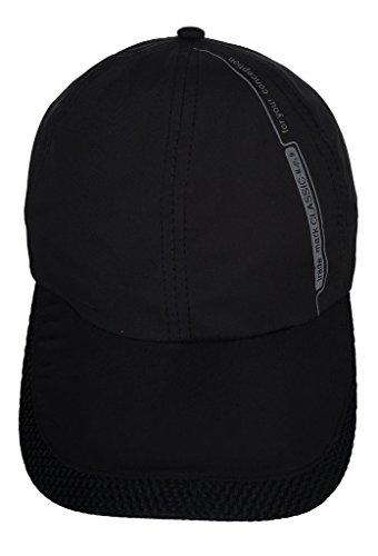 Smile YKK Women Men Outdoor Sport Running Baseball Cap Sun Trucker Hat Black by Smile YKK