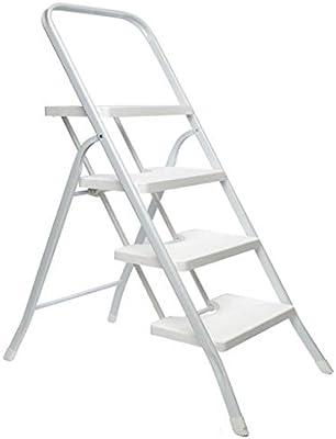 KJZ Escalera de cuatro escalones blanca, escalera de cinco pasos plegable Escalera multifunción portátil Escalera de la sala de estar (Tamaño : 45.5 * 8 * 133CM): Amazon.es: Bricolaje y herramientas