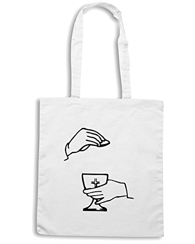 T-Shirtshock - Bolsa para la compra FUN0435 1891 religious stickers 09 83350 Blanco