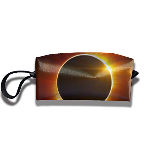 Cosmetic Bags With Zipper Makeup Bag Solar Eclipse Middle Wallet Hangbag Wristlet Holder