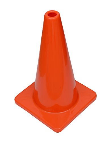 (Set of 12) CJ Safety 18'' Orange Premium PVC Safety Cones - No Reflective Collar (12 Cones) by CJ Safety (Image #1)