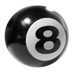 Trik Topz 8-Ball Valve Caps Pr Black