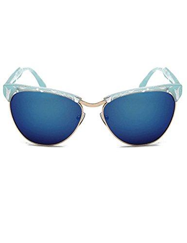 LIKEOY New Fashion Cateye Plastic Frame Semi-Rimless Sunglasses for Women