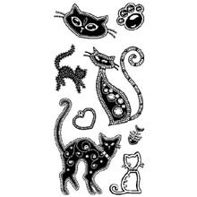 Inkadinkado(R) Clear Stamps - Gem Stone Cats