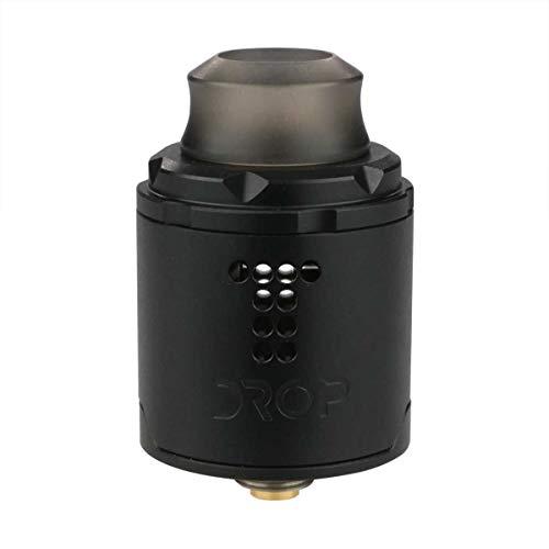 DigiFlavor Drop SOLO RDA Clearomizer, Squonk-kompatibel, Durchmesser 22 mm, Riccardo Verdampfer für e-Zigarette, schwarz