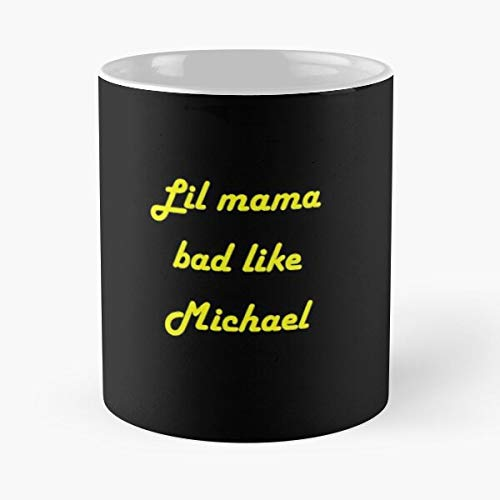 Lil' Mama Bad Like Michael Classic Mug - The Funny Coffee Mugs For Halloween, Holiday, Christmas Party Decoration 11 Ounce White Miniot.