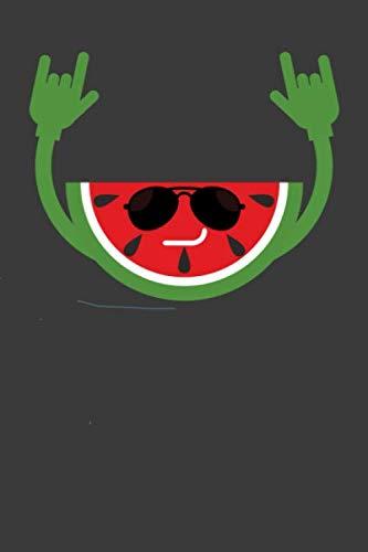 Wassermelone mit Sonnenbrille: Liniertes DinA 5 Notizbuch für Früchte-Fans Frucht- und Obst liebende und Gemüse Fans Notizheft (German Edition) (Ananas Mit Sonnenbrille)