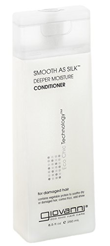 GIOVANNI COSMETICS- Eco Chic Smooth As Silk Conditioner- Deeper Moisture For Damaged Hair- 3 PACK (8.5 Fl Ounce) - Giovanni Cosmetics Vitamins
