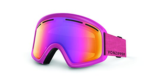 Veezee - Dba Von Zipper Trike Ski Goggles, Monaco Pink Satin/Smoke Pink Chrome (Chrome Goggles Pink)