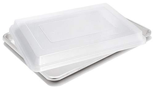 Commercial Grade Aluminum Half Size Baking Sheet Pans with L