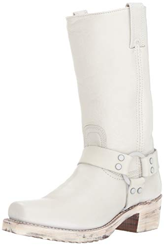Frye Women's Harness 12R Boot, White, 9.5 M US