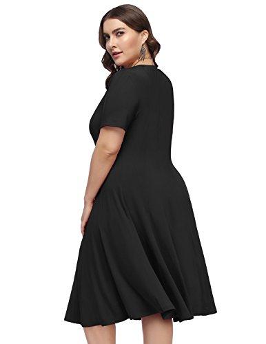 99b8e83900d Hanna Nikole Women Plus Size Casual Loose Soft Crewneck Stretchy Flowy  Swing T-Shirt Dress
