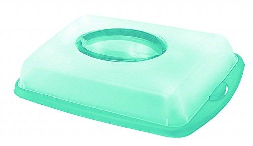 Gravidus Kuchen Transportbox Kuchenbehälter eckig 6,5 L (blau)