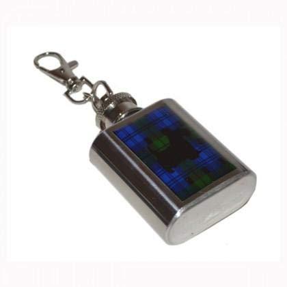 Llavero de petaca de 1 oz, Reloj Negro escocés, diseño de ...