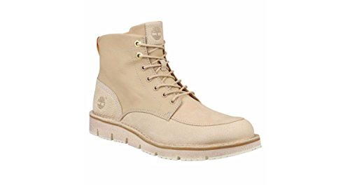 Timberland Men's Westmore Leather and Fabric Boot,Light Beige Nubuck/Canvas,US 1