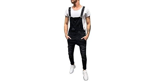 Amazon.com: DEESEE(TM) ❤Jumpsuit ❤ Pantalones vaqueros ...