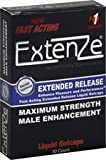 Extenze Maximum Strength Male Enhancement Nutritional Supplement Liquid Gelcaps 30 Gelcaps