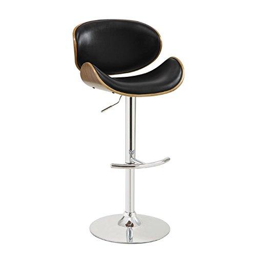 Coaster 130504 Home Furnishings Adjustable Bar Stool, Walnut/Black