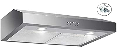 "69W 30"" Stainless Steel Under Cabinet Kitchen Range Hood + FREE E - Book"