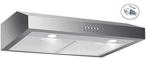 """69W 30"""" Stainless Steel Under Cabinet Kitchen Range Hood + F"""