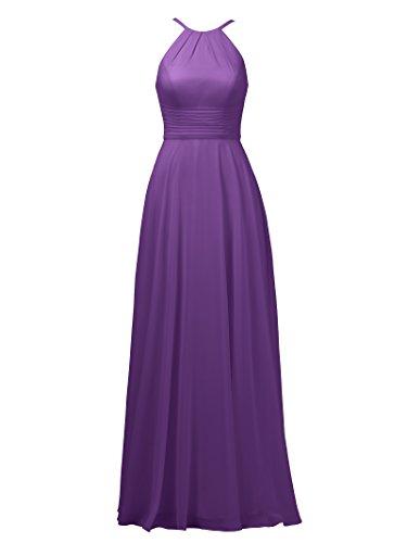 Halter Dress Bridesmaid Sexy Evening Long Straps Alicepub Formal Spaghetti Dress Purple aPwdaqt