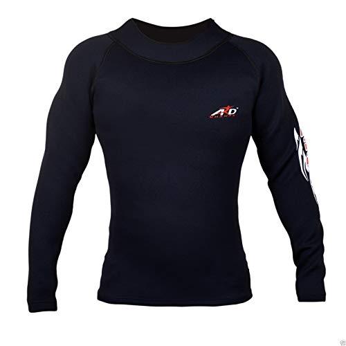 ARD Heavy Duty Neoprene Sweat Shirt Rash Guard Suana suit Weight Los MMA Men Top (Xl)