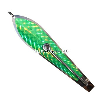 (L.B. Huntington Eco Lure Spoon, Green/Silver Flash Scale, 3.5-Inch)