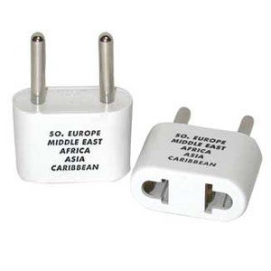 Franzus Travel Lite Adapter Plug Two Thin Blades White by Conair