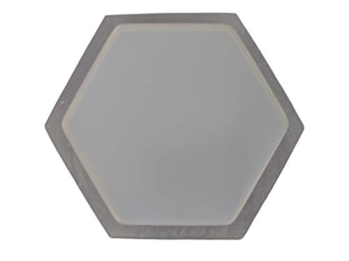 (9 1/4in Plain Smooth Hexagon Stepping Stone Concrete Plaster Mold 2034)