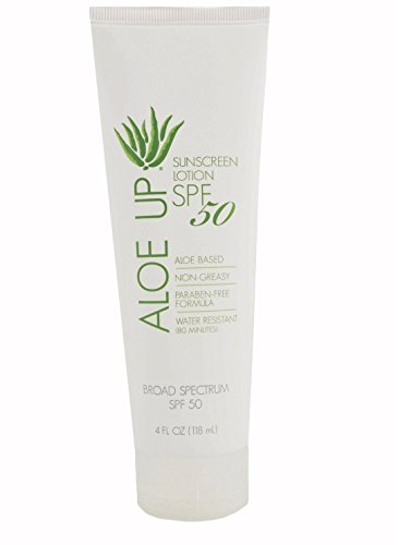- Aloe Up Sun & Skin Care Products White Collection SPF 50 Sunscreen Lotion
