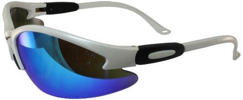 Global Vision Safety Shop Glasses With G Tech Lens  White Frame Blue Lens