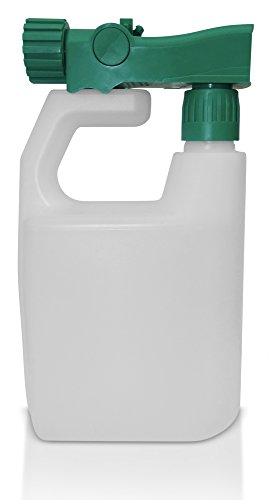 Refillable Multipurpose Hose Sprayer Bottle - Empty Ready-to-use Sprayer 3 oz per Gallon, Reusable, holds 32 ounces - Best for fertilizer, pesticides, herbicides, car wash and any other outdoor - Wash Sprayer Hose End