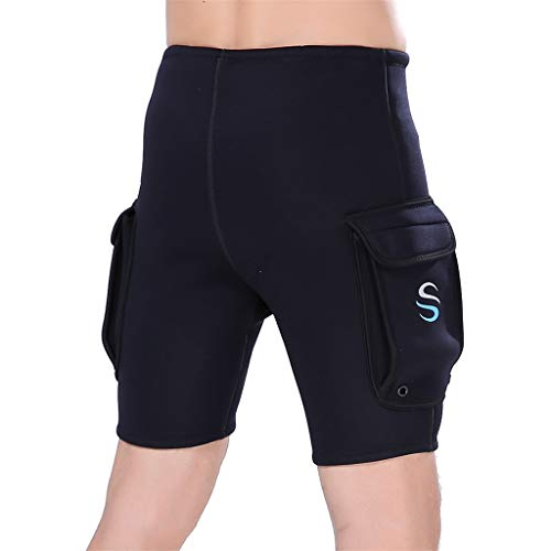 Allywit Wetsuit Shorts Pants for Mens Jammers Swimwear Swim 3mm Neoprene and Spandex Performance Black by Allywit (Image #2)
