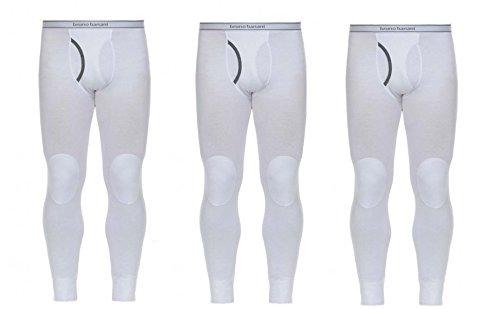 3er Pack Bruno Banani Long John Thermounterwäsche Long Line Herren Hose In Farbe Weiß, 3 Stück zum Preis von einer!