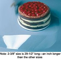 Clear Acetate Cake Collar, Pack of 200 - 2-1/2'' x 28-1/2''