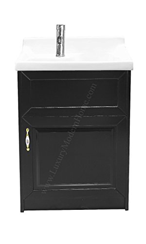 sink ALEXANDER 24'' ESPRESSO Utility Sink - Modern Mop Slop Tub Deep Sink Ceramic Laundry Room Vanity Cabinet Contemporary Hardwood Hard by www.LuxuryModernHome.com (Image #1)