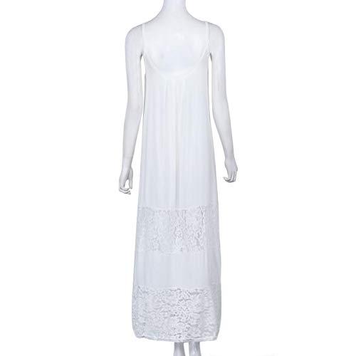 Fanyunhan Sexy Women Summer Casual Lace Long Dress Sleeveless Sling Maxi Dress Evening Party Beach Dress White by Fanyunhan Dress (Image #4)