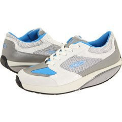 - MBT Womens Moja Lace Up Athletic Sneakers Shoes Blue/White 38 1/3 (US 8M)